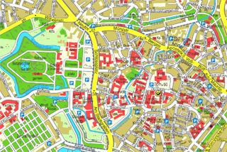 Stadtplan von Münster (Bild: Vermessungs- und Katasteramt Stadt Münster)