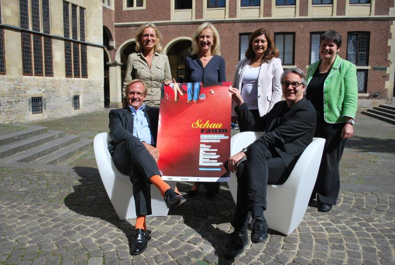 Das Team des diesjährigen Schauraum (Foto: Stadt Münster)