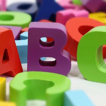 Bauklötze in Buchstabenform