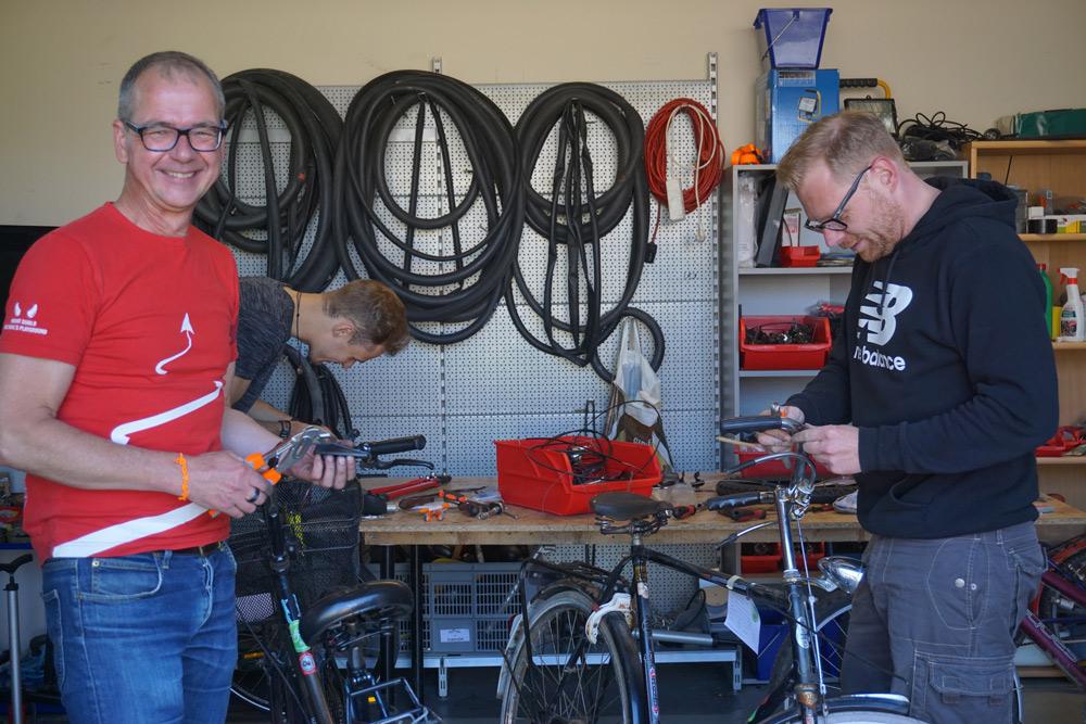 Blick in die Internationale Fahrradwerkstatt