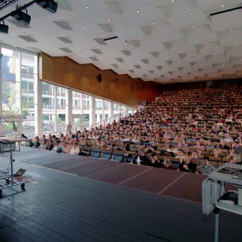 Ein Foto aus einem Hörsaal. (Foto: Presseamt Münster / Joachim Busch)