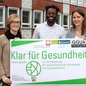 """Das Team der Clearing-Stelle """"Klar für gesundheit Münster (Foto: Stadt Münster)"""