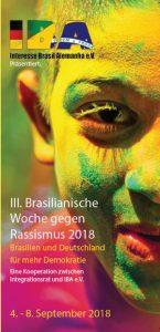 Programm-Flyer Brasilianische Woche gegen Rassismus (Klicken zum Download)